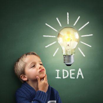 School boy with communication idea